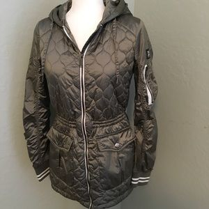 BCBGeneration gray quilted coat